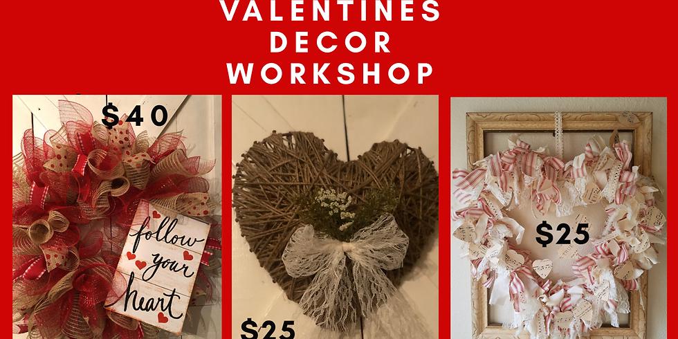 Valentines Decor workshop