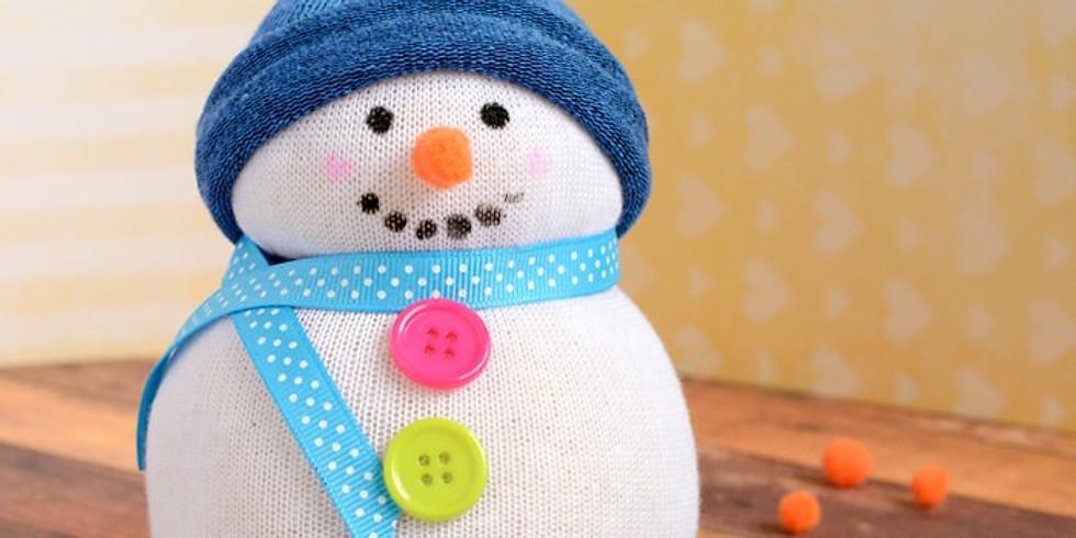 Kid's Fabric Snowmen Workshop - Let's make 2!