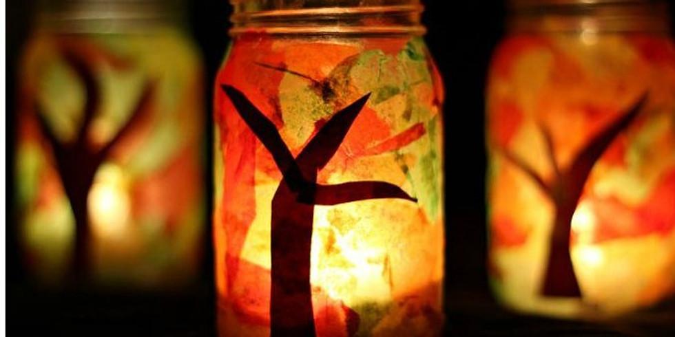 Kids Fall Luminary Jar Workshop