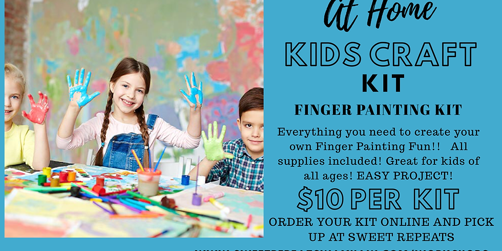 Kids At Home Fingerpainting Kit