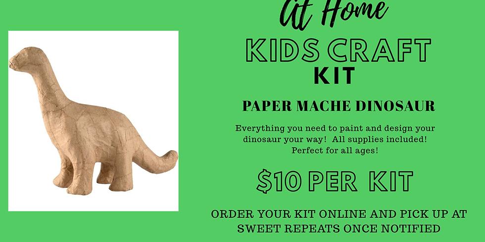 Kids At-Home Paper Mache Dinosaur Craft Kit