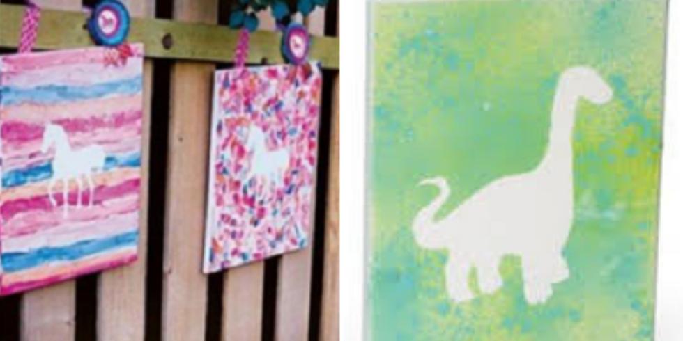 Kids Unicorn/Dinosaur Canvas Art Workshop