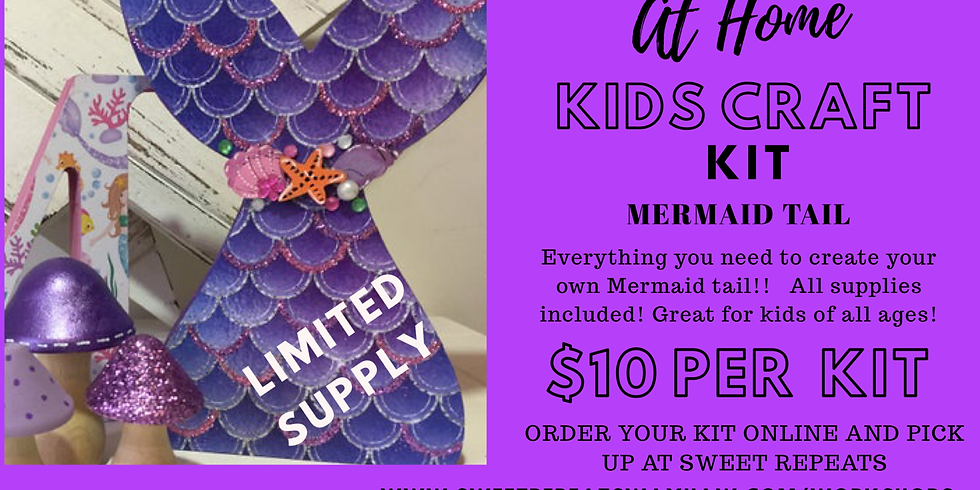 Kids At Home Mermaid Tail Craft Kit