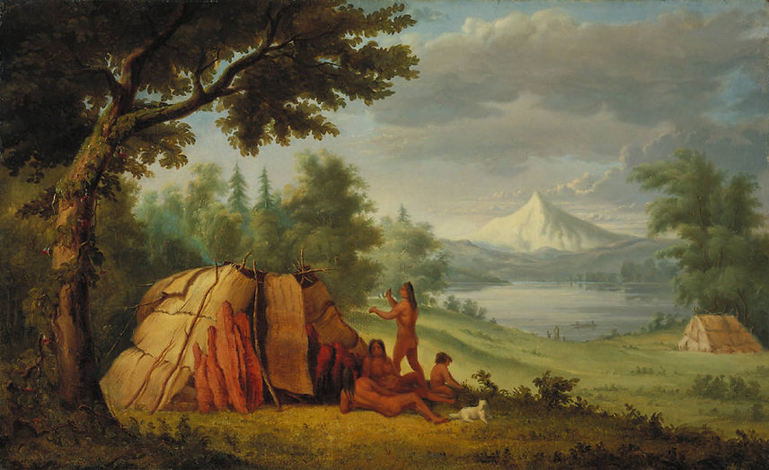 Paul_Kane_-_Chinook_Indians_in_Front_of_