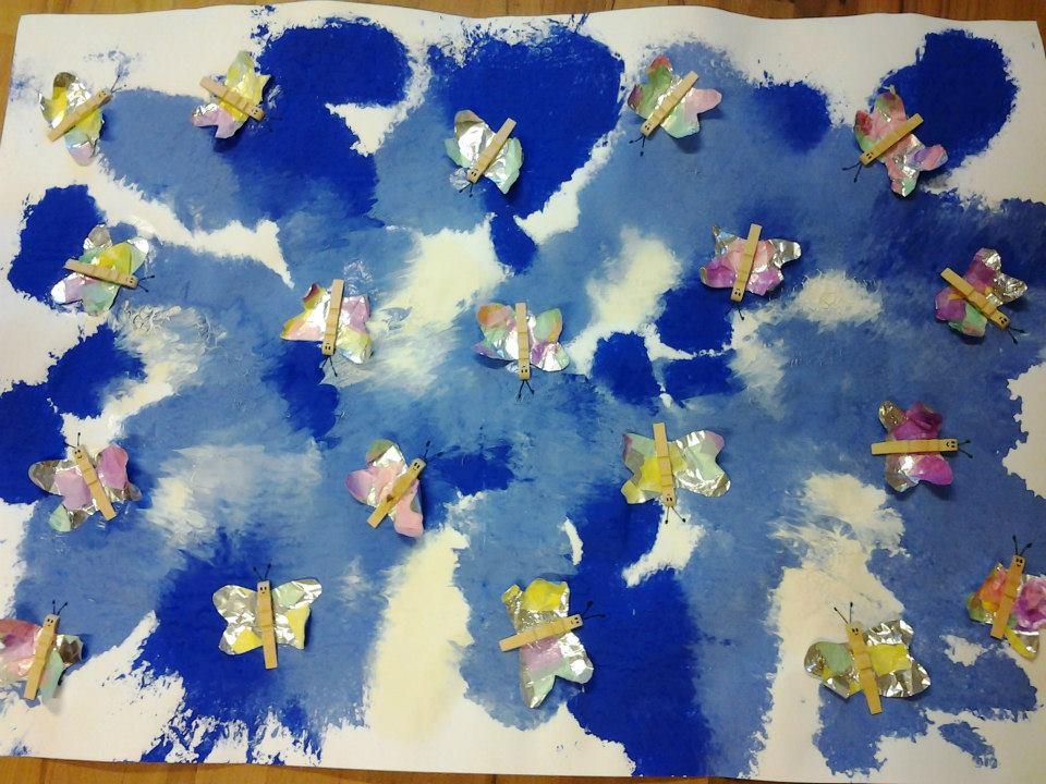 Cartellone farfalle