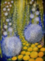 Lida Sherafatmand-Angelic Night-Oil on c
