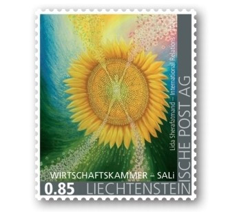 Commemorative Stamp in Liechtenstein to Honour Artist Lida Sherafatmand's Florescence Art