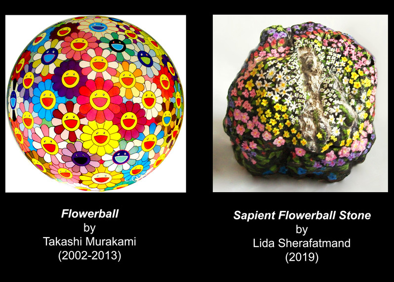 """""""Sapient Flowerball Stone"""" dialoguing with """"FLowerball"""""""