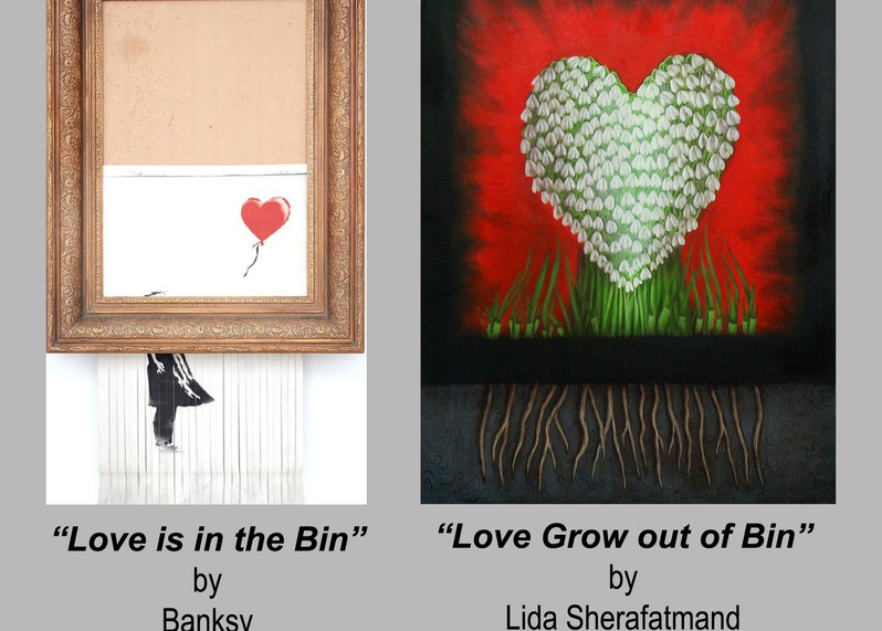 """""""Love Grow out of Bin"""" dialoguing with """"Love is in the Bin"""""""