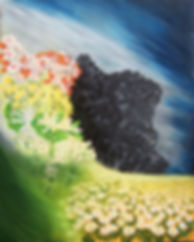 -Lida Sherafatmand- Iran's Soul - oil on