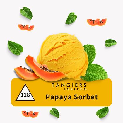 TANGIERS Papaya Sorbet  - טבק טנג'ירז סורבה פאפיה אקזוטי