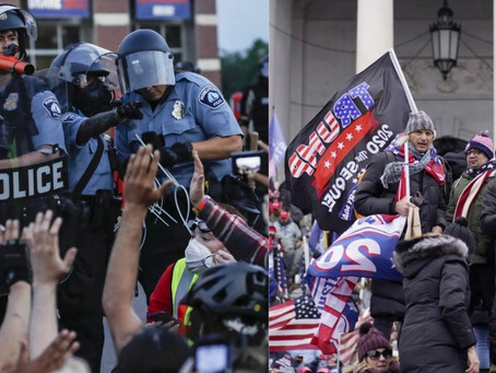 Spot the difference: A comparison between police responses to Trump protests with BLM protests