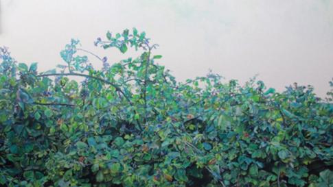 Nefes, 2016 Aquarel paint on paper, 140 x 110 cm