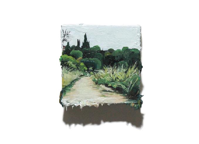Yol 2, 2019 Oil on canvas, 12 x 12 cm