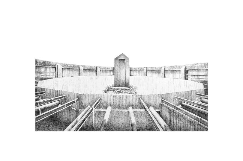 Panopticon, 2020 Kâğıt üzerine mürekkep 70 x 100 cm