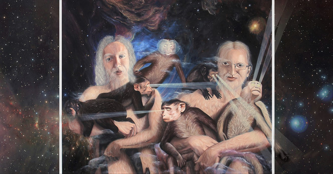 Sons of Adam, 2018 Oil on canvas,125 x 250 cm