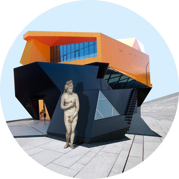 Vertigo No 1, 2015 Tuval üzerine akrilik ve yağlı boya,Ø150cm