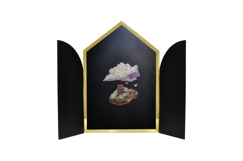 İkona, 2020 Ahşap üzerine yağlı boya 56 x 77 cm