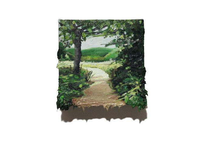 Yol 3, 2019 Oil on canvas, 12 x 12 cm
