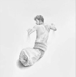 Lover Changing Skin l, 2019 Pencils on Paper, 70 x 70 cm