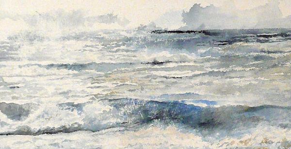 peintre marie c allio · acryliques · illustrations · dessins · watercolors · thèmes : vagues · portraits  · dos · mer · ciel ·