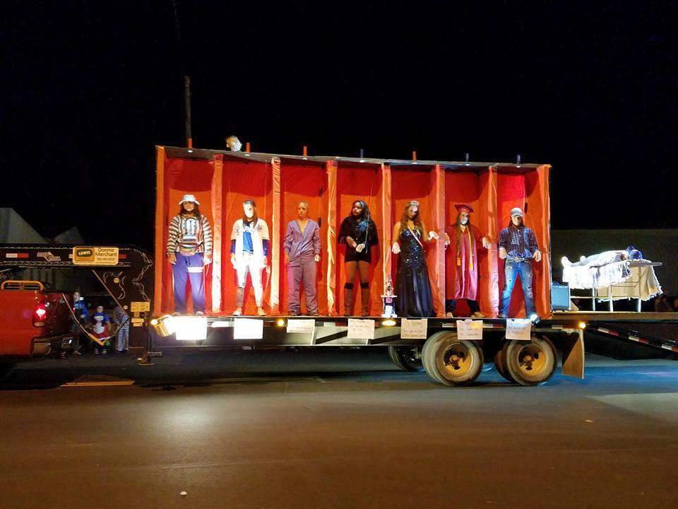 Highland Community College Softball Team Float