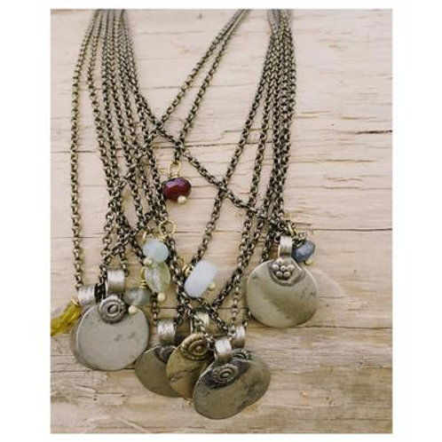 Brass Coin Necklace