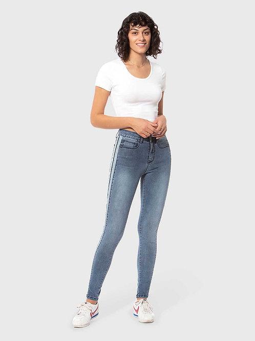 Skinny Racer Stripe Jeans