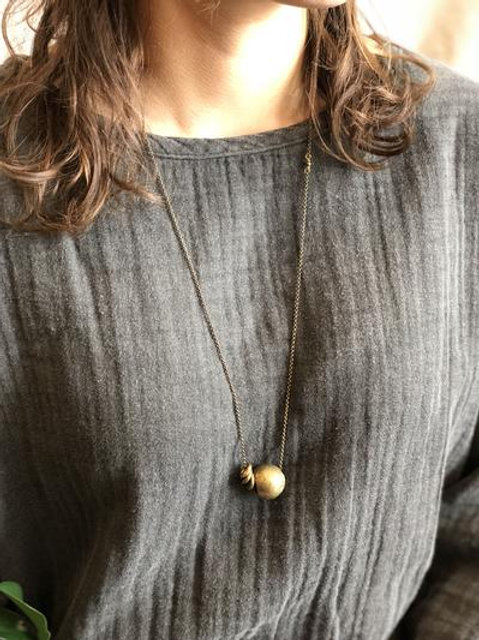 Recycled Brass Spheres Necklace