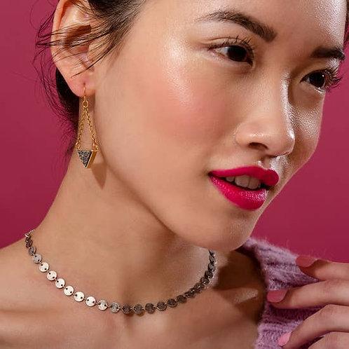 Pendulum Black Drusy Earrings