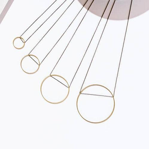 Circle Pendant Necklaces (Small, Medium, Large, X-Large)