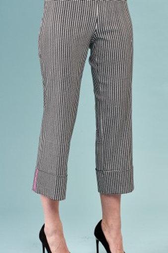 Striped Cuff Gingham Crop