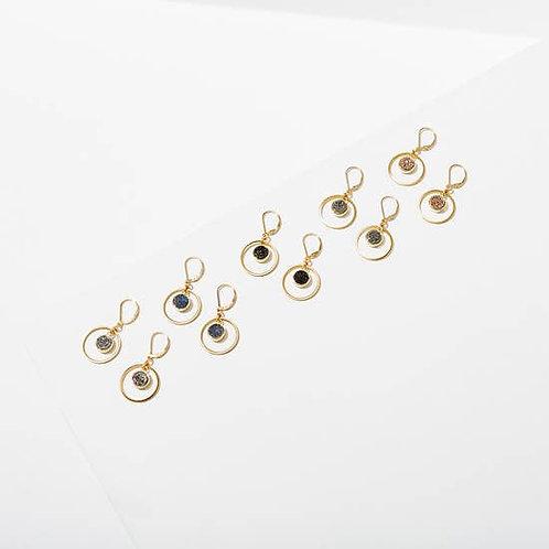 Drusy Hoop Earrings (Available in Rose & Lt. Blue)