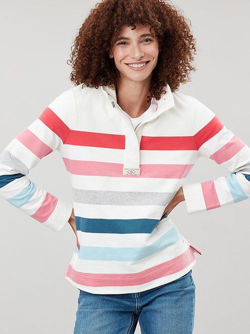 Stripe Funnel Neck Sweatshirt