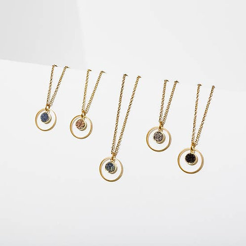 Drusy Pendant Necklaces (Available in Rose & Lt. Blue)