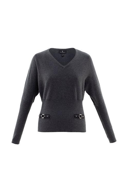 Buckle Waist Sweater