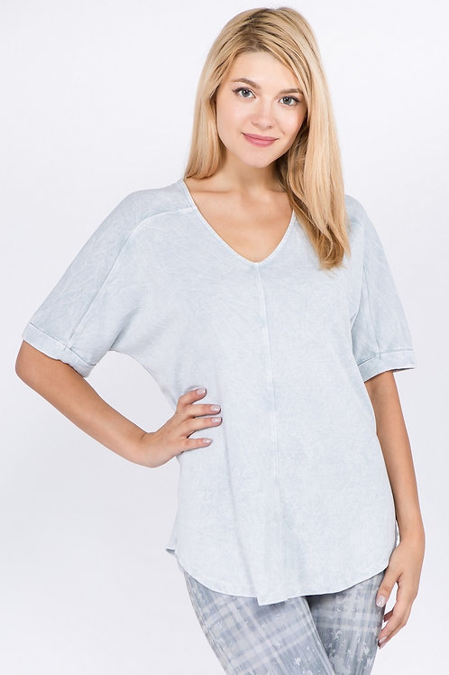 Double V Seamed Top