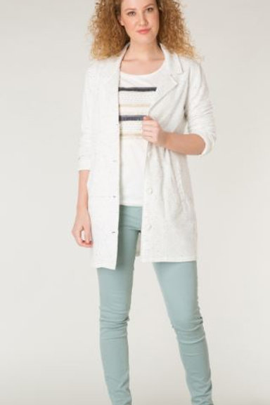 3-Button Longline Knit Blazer