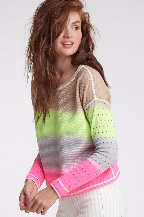 Pop Combo Cotton Sweater
