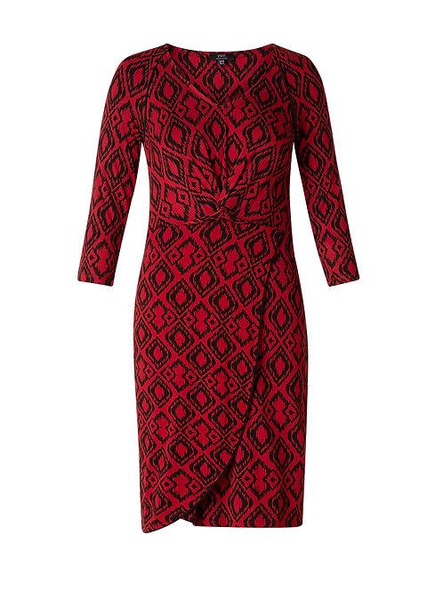 Ikat Faux Wrap Dress