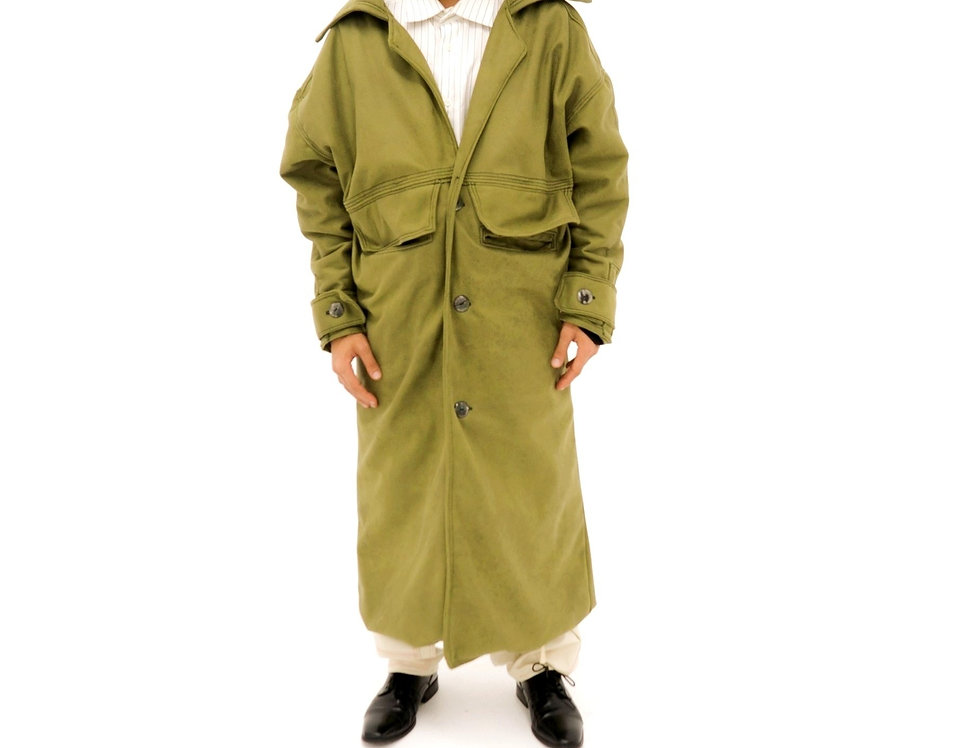 MOSS SUEDE TRENCH