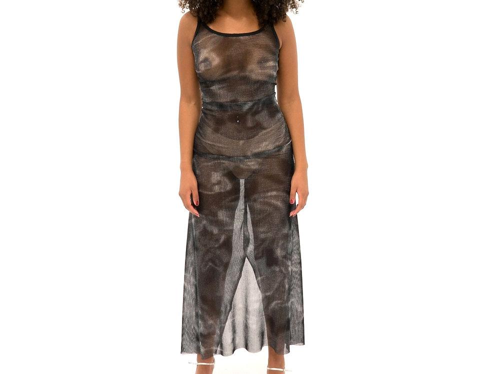 WEB'D BLACK DRESS