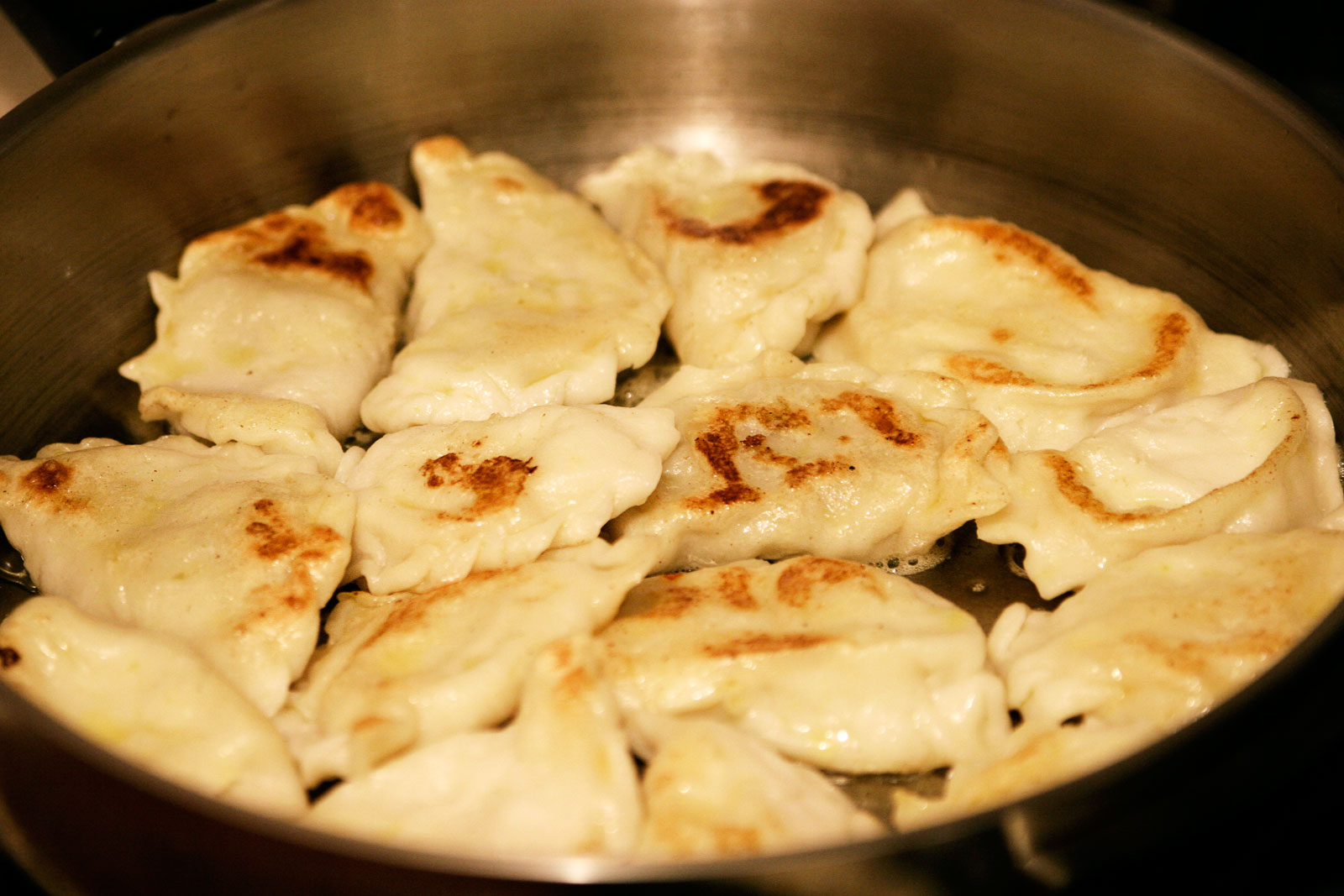 Cooked pierogies
