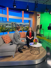Dr. Brooke and anchor in KTVB Studio
