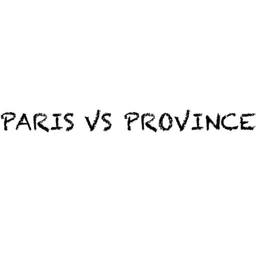 """""""Paris vs province"""" de Edouard Pluvieux"""