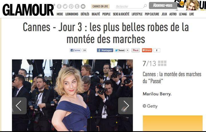 Marilou Berry au Festival de Cannes