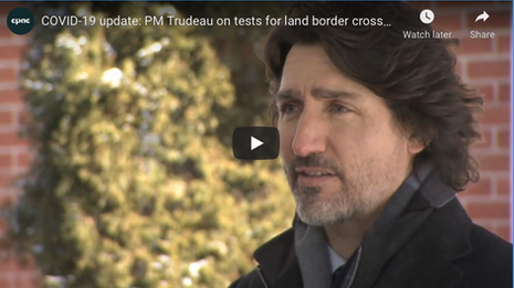 Trudeau Update Canadians on COVID-19 Pandemic   February 9
