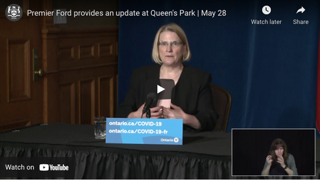 Premier Ford provides an update at Queen's Park   May 28