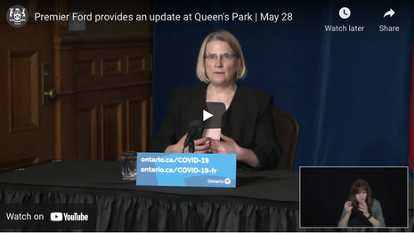 Premier Ford provides an update at Queen's Park | May 28
