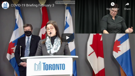 City of Toronto COVID-19 Briefing   February 3